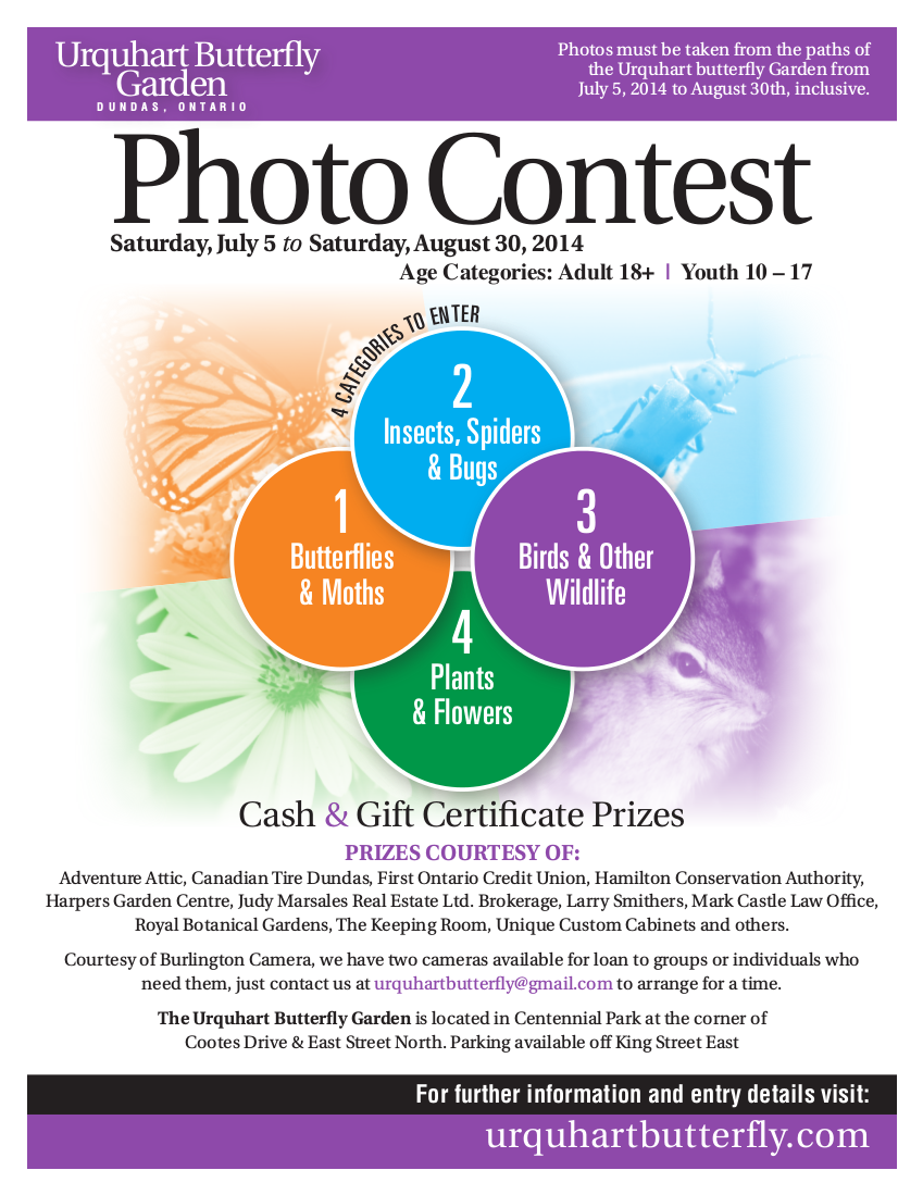 Announcing The Ubg Photo Competition Urquhart Butterfly Garden